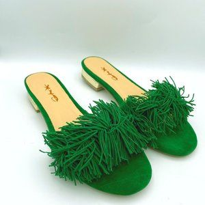 XYD Fringe Slide Sandals Slip On Slippers Loafer